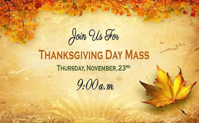 Thanksgiving Day Mass 2017